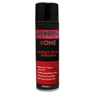 Tuskbond One Spray Contact Adhesive Glue 500ml Aerosol Can