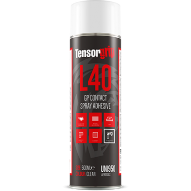 TensorGrip L40 – GP Contact Web Spray Adhesive 500ml Aerosol