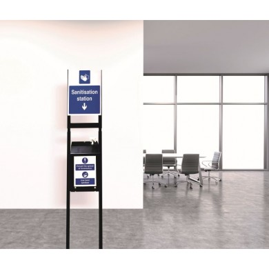 5 Litre Sanitising Station With Floor Stand – Heavy Duty Powder Coated