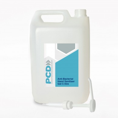 Anti-Bacterial Hand Sanitiser Gel – 5 Litre Container - 80% Alcohol Content - W.H.O Standard