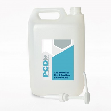 Anti-Bacterial Hand Sanitiser Liquid – 5 Litre Container - 80% Alcohol Content - W.H.O Standard